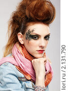 Купить «Девушка-панк», фото № 2131790, снято 11 апреля 2010 г. (c) Serg Zastavkin / Фотобанк Лори
