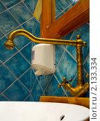 Купить «Интерьер  умывальной  комнаты», фото № 2133334, снято 5 ноября 2010 г. (c) Юлия  Лесина / Фотобанк Лори