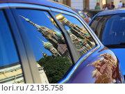 Купить «Отражение в автомобильном стекле. Храм Воскресения Христова (Спас-на-крови). Санкт-Петербург», фото № 2135758, снято 21 июля 2010 г. (c) Антон Корнилов / Фотобанк Лори