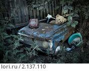 Забытые, старые, разбросанные игрушки на сельском дворе. Стоковое фото, фотограф Yury Ivanov / Фотобанк Лори