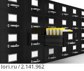 Купить «Шкаф для документов на белом фоне», иллюстрация № 2141962 (c) Ильин Сергей / Фотобанк Лори