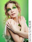 Купить «Лесная нимфа с зеленой веткой», фото № 2142638, снято 26 февраля 2010 г. (c) Serg Zastavkin / Фотобанк Лори