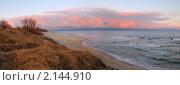 Купить «Раннее утро на Балтийском море», фото № 2144910, снято 18 октября 2019 г. (c) Сергей Куров / Фотобанк Лори