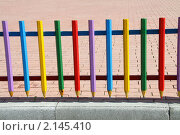 Забор из карандашей. Стоковое фото, фотограф Гаушкина Ирина Борисовна / Фотобанк Лори