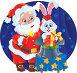 Санта-Клаус и Белый кролик. Представление фокусника, иллюстрация № 2156054 (c) Савицкая Татьяна / Фотобанк Лори