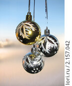 Новогодние елочные шарики. Стоковое фото, фотограф Анна Павлова / Фотобанк Лори