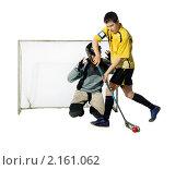 Купить «Игра в флорбол», фото № 2161062, снято 25 марта 2010 г. (c) Артем Поваров / Фотобанк Лори