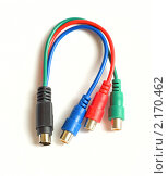 Купить «Разъемы видео-кабеля», фото № 2170462, снято 8 июня 2010 г. (c) Сергей Куров / Фотобанк Лори