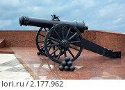 Купить «Старинная пушка», фото № 2177962, снято 17 августа 2009 г. (c) Саломатников Владимир / Фотобанк Лори