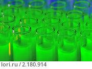 Купить «Пробирки с зеленой жидкостью», фото № 2180914, снято 21 ноября 2010 г. (c) Денис Ларкин / Фотобанк Лори
