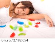 Купить «Спящая девушка», фото № 2182054, снято 8 ноября 2010 г. (c) Насыров Руслан / Фотобанк Лори
