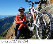 Туристка в Альпах (2010 год). Редакционное фото, фотограф Natalia Nemtseva / Фотобанк Лори