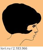 Купить «Портрет молодой девушки на коричневом фоне», иллюстрация № 2183966 (c) Сергей Яковлев / Фотобанк Лори