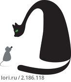 Кошка и мышка. Стоковая иллюстрация, иллюстратор Ирина Кротова / Фотобанк Лори