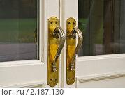 Купить «Красивые большие дверные ручки», эксклюзивное фото № 2187130, снято 2 октября 2010 г. (c) Алёшина Оксана / Фотобанк Лори