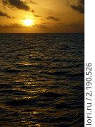 Закат в Индийском океане. Стоковое фото, фотограф Сергеева Дарья / Фотобанк Лори