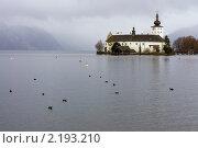 Купить «Озерный замок Орт (See Schloss Ort) в Гмундене (Австрия) осенью», фото № 2193210, снято 16 ноября 2010 г. (c) Rogal Anna / Фотобанк Лори