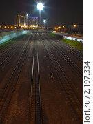 Черкизовские рельсы (2010 год). Стоковое фото, фотограф Кирилл Кравченко / Фотобанк Лори