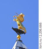 Купить «Единорог на башне Государственного Исторического музея. Фрагмент», эксклюзивное фото № 2206666, снято 31 мая 2009 г. (c) Алёшина Оксана / Фотобанк Лори