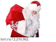 Дед Мороз с мешком подарков. Стоковое фото, фотограф Сергей Салдаев / Фотобанк Лори
