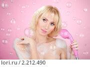 Купить «Девушка принимает душ», фото № 2212490, снято 2 октября 2010 г. (c) Сергей Новиков / Фотобанк Лори
