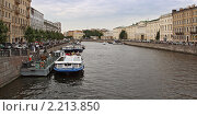 Купить «Канал под пасмурным небом. Санкт-Петербург», фото № 2213850, снято 17 августа 2010 г. (c) Емельянов Валерий / Фотобанк Лори