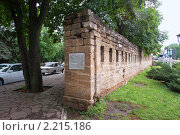 Купить «Участок крепостной стены - памятник основания города Ставрополя», фото № 2215186, снято 15 июня 2009 г. (c) Владимир Горощенко / Фотобанк Лори