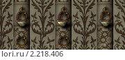 Купить «Бесшовная текстура стены с колоннами и росписью», иллюстрация № 2218406 (c) Марина Рядовкина / Фотобанк Лори