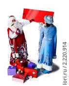 Купить «Объявление Деда Мороза и Снегурочки», фото № 2220914, снято 5 декабря 2010 г. (c) Владимир Мельников / Фотобанк Лори