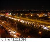 Ночной город.Автомобильная пробка. Стоковое фото, фотограф Венюков Вячеслав / Фотобанк Лори