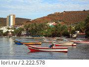 Купить «Лодки у побережья Пампатара,  Венесуэла», фото № 2222578, снято 17 апреля 2010 г. (c) Валерий Шанин / Фотобанк Лори