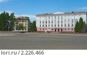Купить «Закрытый город Северск. Городская администрация», фото № 2226466, снято 8 июля 2010 г. (c) Денис Шароватов / Фотобанк Лори