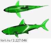 Купить «2 зелёные акулы», иллюстрация № 2227046 (c) Владимир Ильин / Фотобанк Лори