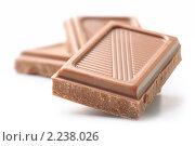 Купить «Шоколад на белом фоне», фото № 2238026, снято 6 апреля 2010 г. (c) Сергей Петерман / Фотобанк Лори
