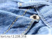 Купить «Джинсовая ткань», фото № 2238318, снято 22 апреля 2010 г. (c) Сергей Петерман / Фотобанк Лори