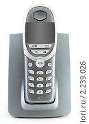 Купить «Цифровой радио телефон на белом фоне», фото № 2239026, снято 7 марта 2009 г. (c) Сергей Петерман / Фотобанк Лори