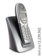 Купить «Цифровой радио телефон на белом фоне», фото № 2239502, снято 7 марта 2009 г. (c) Сергей Петерман / Фотобанк Лори