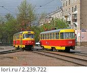 Купить «Трамваи», фото № 2239722, снято 15 мая 2008 г. (c) Art Konovalov / Фотобанк Лори