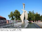 """Набережная Волги в городе Самаре, фонтан """"Самара"""" (2009 год). Редакционное фото, фотограф ElenArt / Фотобанк Лори"""