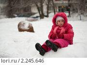 Купить «Девочка зимой», фото № 2245646, снято 26 декабря 2010 г. (c) Лена Лазарева / Фотобанк Лори