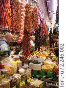 Купить «Рынок в Испании. Торговля специями», фото № 2246002, снято 5 ноября 2010 г. (c) Гордина Алёна / Фотобанк Лори