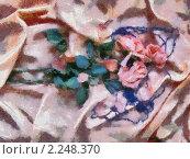 Три увядшие розы. Стоковая иллюстрация, иллюстратор Фомченкова Юлия / Фотобанк Лори