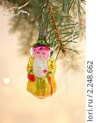 Дед мороз - елочная игрушка. Стоковое фото, фотограф Короленко Елена / Фотобанк Лори