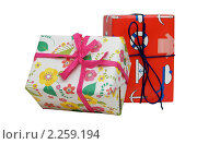 Подарки на белом фоне (2010 год). Редакционное фото, фотограф Алена Романова / Фотобанк Лори