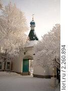 Купить «Вход на территорию Знаменской церкви в городе Иркутске», фото № 2260894, снято 2 января 2011 г. (c) Момотюк Сергей / Фотобанк Лори