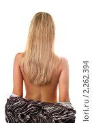 Купить «Привлекательная блондинка на белом фоне», фото № 2262394, снято 14 октября 2009 г. (c) Сергей Сухоруков / Фотобанк Лори