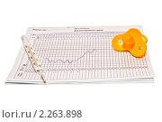 График измерения базальной температуры. Стоковое фото, фотограф Анатолий Соловьев / Фотобанк Лори