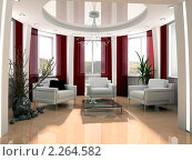 Купить «Интерьер современной гостиной», иллюстрация № 2264582 (c) Алексей Кашин / Фотобанк Лори