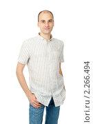 Купить «Портрет молодого мужчины», фото № 2266494, снято 25 декабря 2010 г. (c) Александр Лычагин / Фотобанк Лори