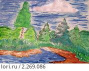 Детский рисунок. Стоковая иллюстрация, иллюстратор UladzimiR / Фотобанк Лори